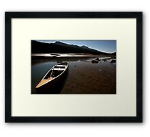 Medicine Lake in Jasper National Park Framed Print