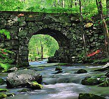 Keystone Bridge in New Salem, MA by Mitchell Grosky