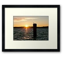 Lake Garda Golden Sunset Framed Print