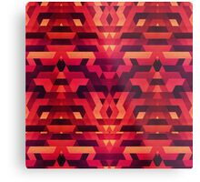 Abstract red geometric triangle texture pattern design (Digital Futrure - Hipster / Fashion) Metal Print