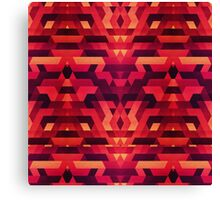 Abstract red geometric triangle texture pattern design (Digital Futrure - Hipster / Fashion) Canvas Print