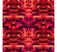 Abstract red geometric triangle texture pattern design (Digital Futrure - Hipster / Fashion) Photographic Print