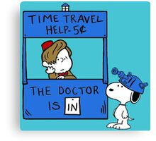 Peanuts Time Travel Canvas Print
