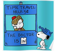 Peanuts Time Travel Poster