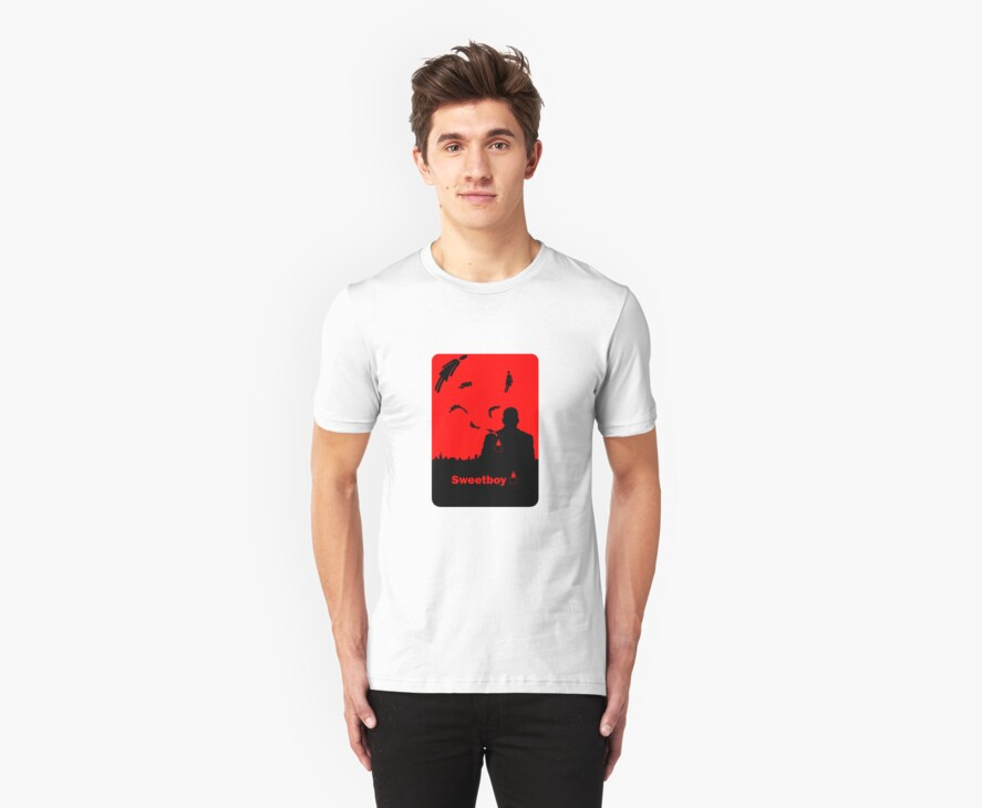 Sweetboy T Shirt black and red print by Fangpunk