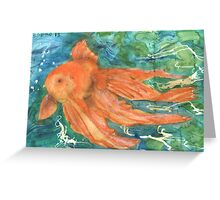 Gold Fishes 4 - 2013 Greeting Card