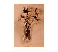 Roses in Sepia Art Print