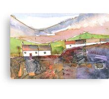 White Cottages 1, Scotland - 2013 Canvas Print