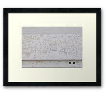Skimmed Framed Print