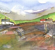 White Cottages 2, Scotland - 2013 by sabro