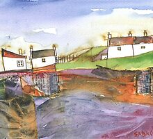 White Cottages 3, Scotland - 2013 by sabro