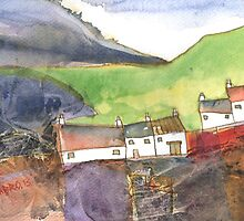 White Cottages 4, Scotland - 2013 by sabro