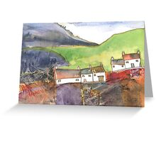 White Cottages 4, Scotland - 2013 Greeting Card