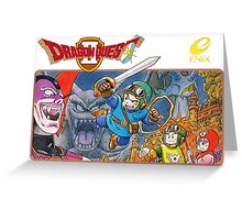Dragon Quest 2 Nintendo Famicom Box Art Greeting Card