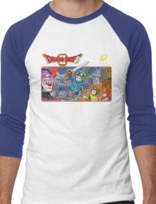 Dragon Quest 2 Nintendo Famicom Box Art Men's Baseball ¾ T-Shirt