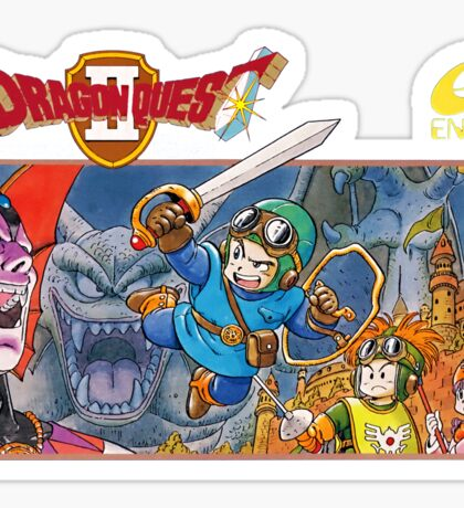 Dragon Quest 2 Nintendo Famicom Box Art Sticker