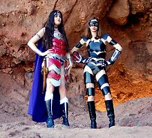 Medieval Catwoman and Wonder Woman by CKAStudios