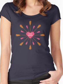 I love gluten Women's Fitted Scoop T-Shirt