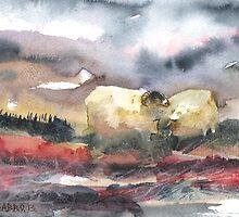 Grazing, Lochindorb 2, Scotland - 2013 by sabro
