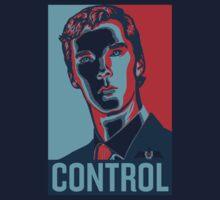 CONTROL PastelBlue/Red/DarkBlue Kids Tee