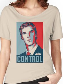 CONTROL PastelBlue/Red/DarkBlue Women's Relaxed Fit T-Shirt