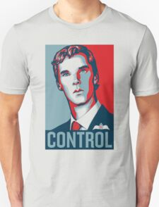 CONTROL PastelBlue/Red/DarkBlue Unisex T-Shirt