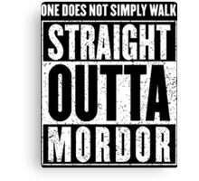 Straight Outta Mordor Quotes Canvas Print