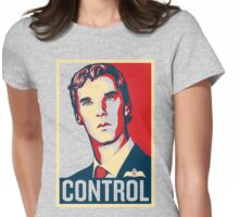 CONTROL Beige/Red/DarkBlue Womens Fitted T-Shirt
