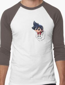 Pocket chibi Tyson Men's Baseball ¾ T-Shirt