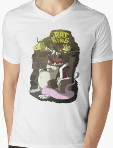 Ratking Mens V-Neck T-Shirt