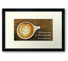cappuccino haiga Framed Print