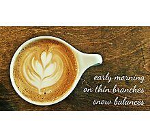 cappuccino haiga Photographic Print