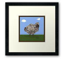 Sheep Portrait  Framed Print