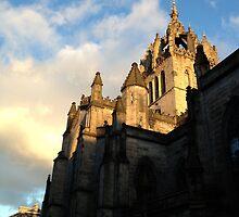 St. Giles Cathedral, Edinburgh with Sky by Talia Felix