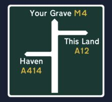 This Land, Your Grave Road Sign by jezkemp