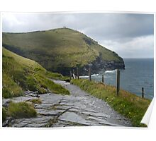 Looking out to sea, Cornwall Poster