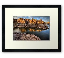 Sunset Crawl Framed Print