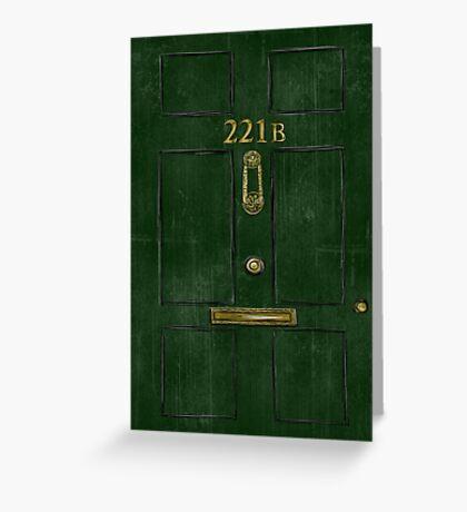 221B Door Greeting Card