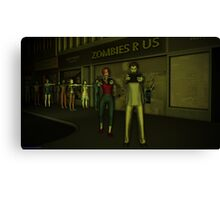 Zombies R Us Canvas Print