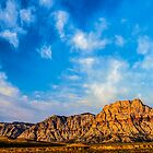 Red Rock Canyon - &#x27;Neath a Blue, Blue Sky by Greg Summers