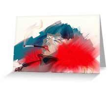 smoking queen Greeting Card