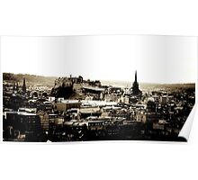 Edinburgh Castle and City Poster