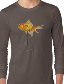 unicycle goldfish Long Sleeve T-Shirt