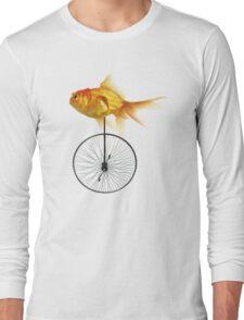 unicycle goldfish Long Sleeve T-Shirt