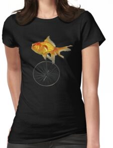 unicycle goldfish Womens Fitted T-Shirt