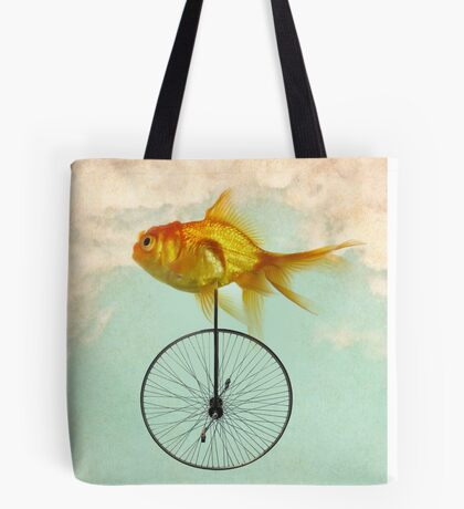 unicycle goldfish Tote Bag