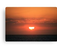 Powerful Sunset Canvas Print