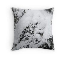 Snow Wreath Throw Pillow
