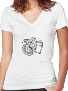 Minolta XG-7 SLR Women's Fitted V-Neck T-Shirt