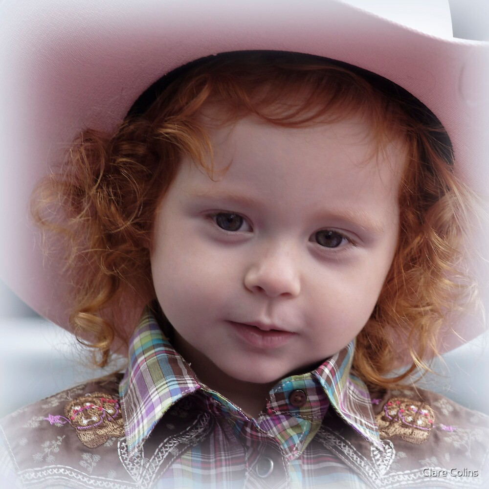 Cowgirl in Pink by Clare Colins